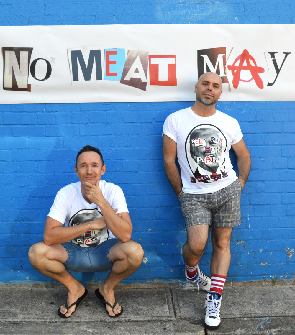 No Meat May founders Ryan Alexander and Guy James Whitworth.
