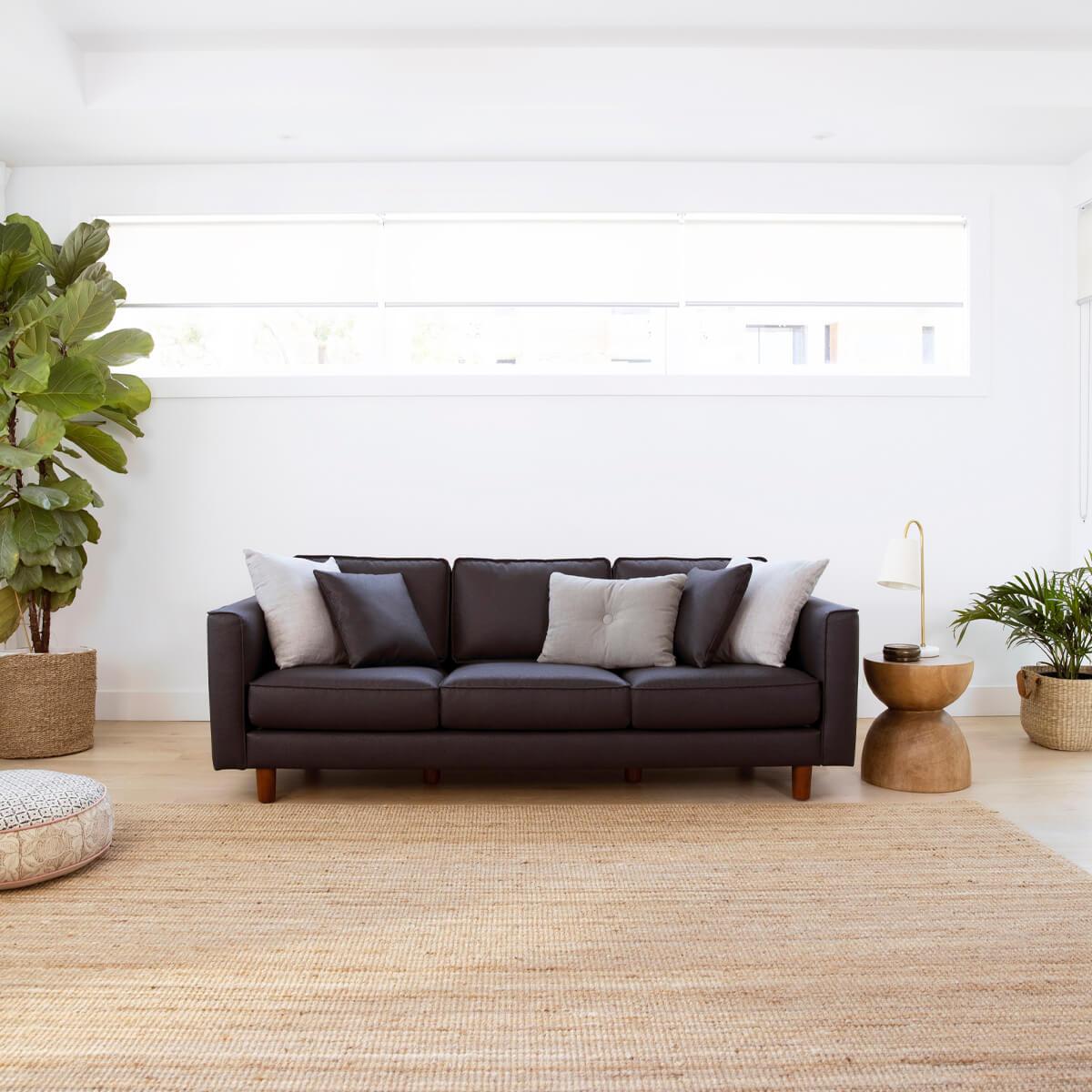 Koala's Cork Leather Sofa in Jenolan Black